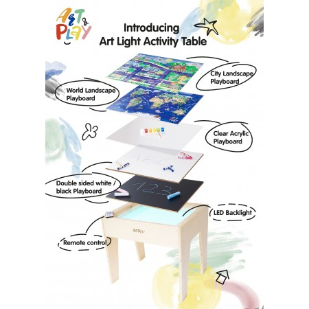 Art Light Activity Table (Full Set: 5-in-1)